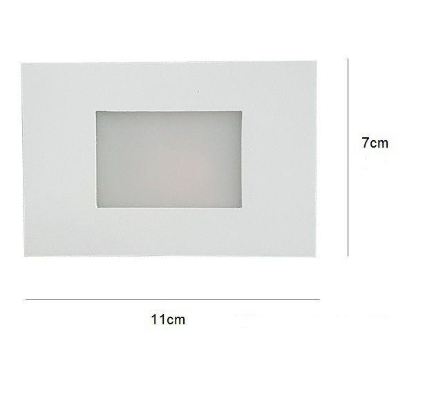 Kit 4 Balizador de Embutir Escada Parede 4x2 Alumínio Branco RL