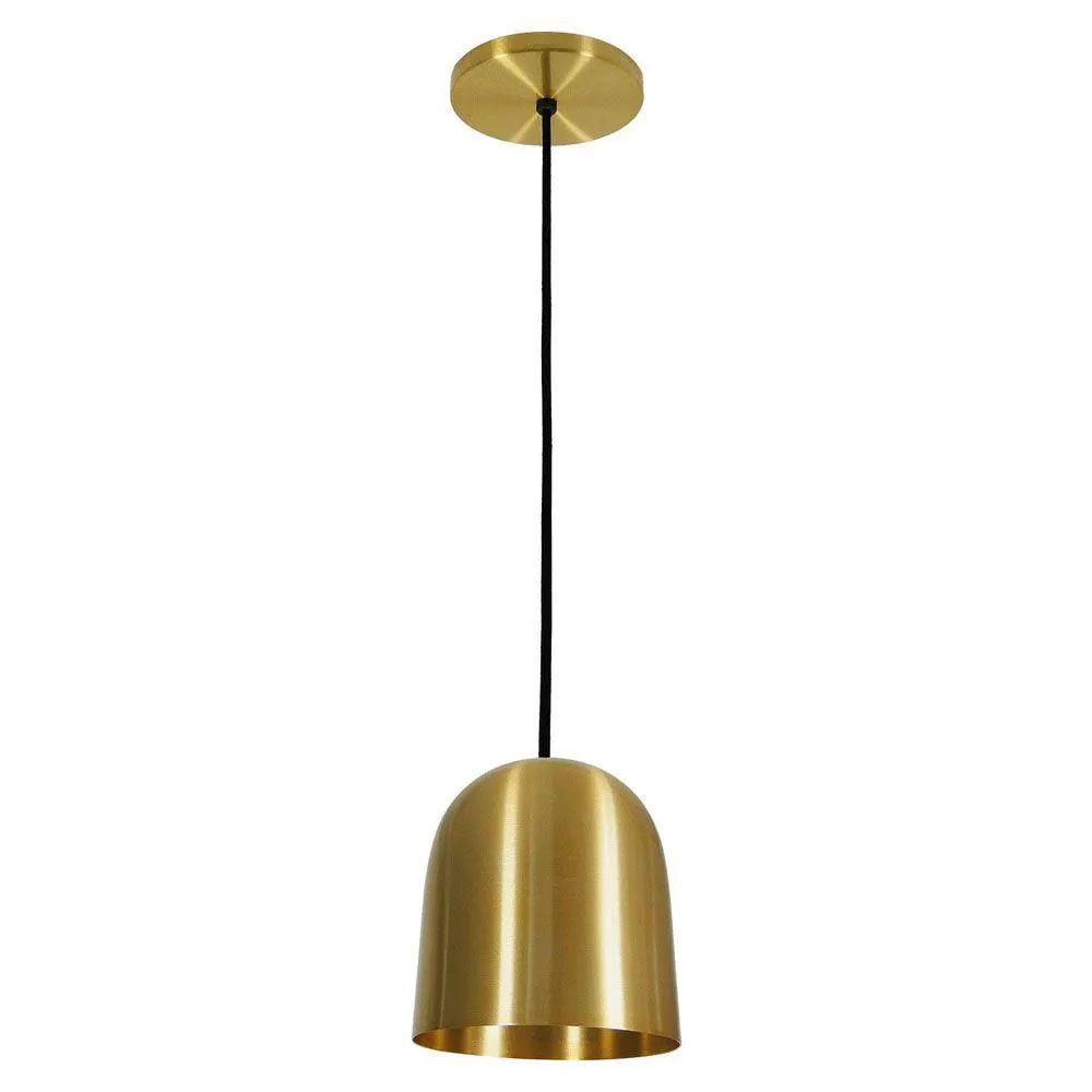 Kit 4 Luminária Pendente 16x14cm Aluminium Dourado - TKS