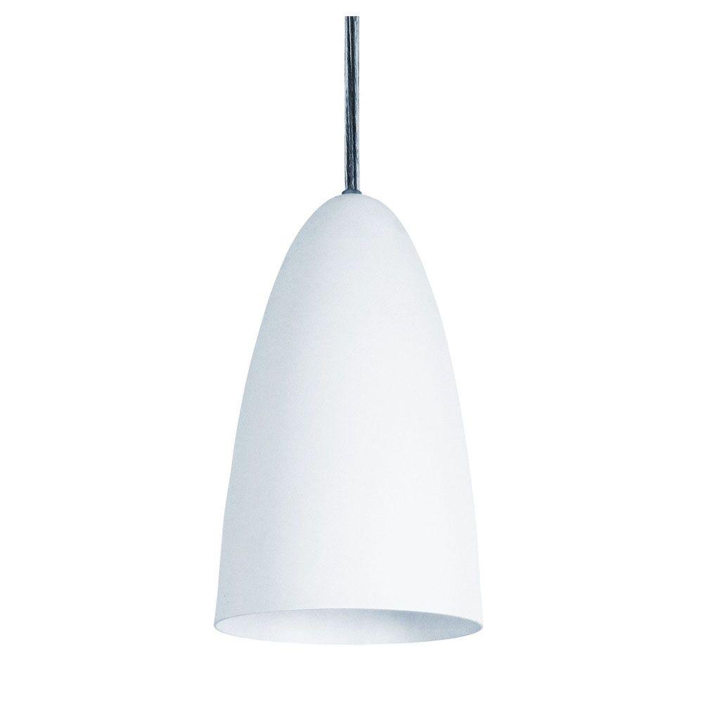 Kit 4 Luminária Pendente Oval 29x13cm Aluminium Branco