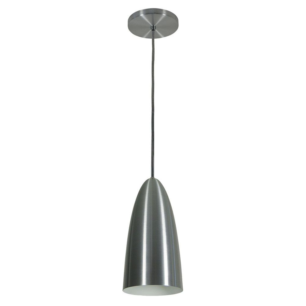 Kit 4 Luminária Pendente Oval 29x13cm Aluminium Escovado