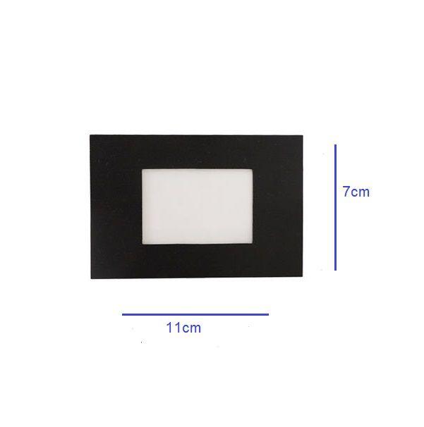 Kit 5 Balizador de Embutir Escada Parede 4x2 Alumínio Preto RL