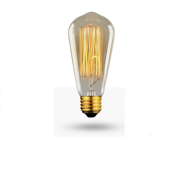 Lâmpada Filamento de Carbono ST64 40w Retro Vintage