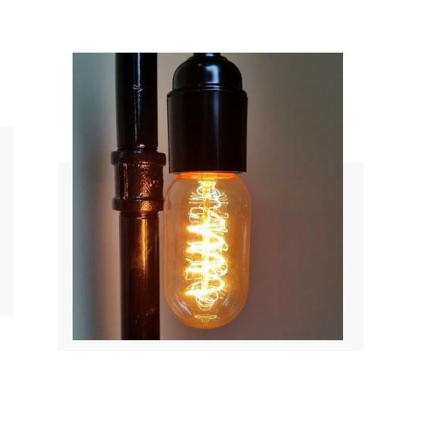 Lâmpada Filamento de Carbono T45 40w Retro Vintage