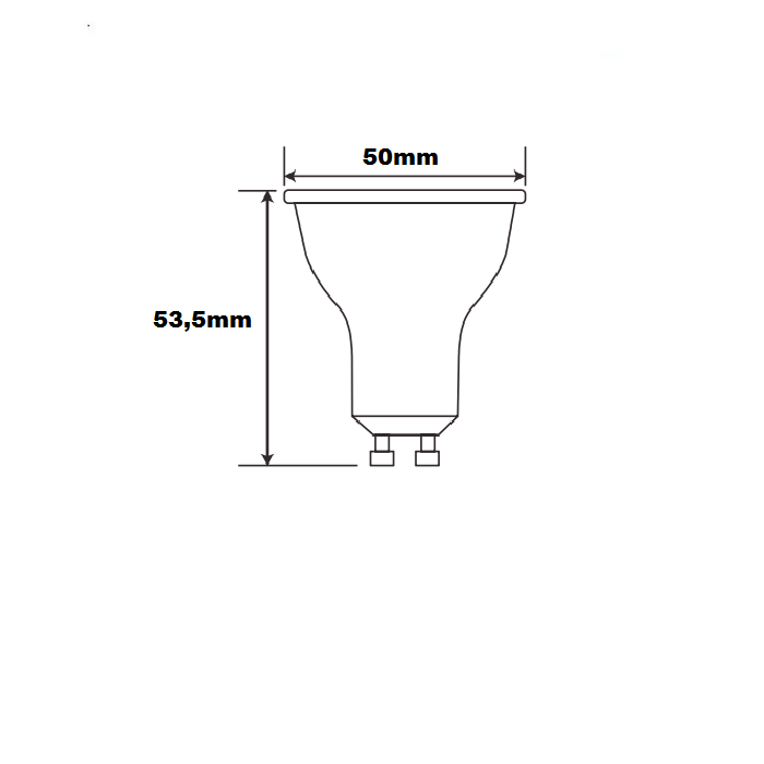 Lâmpada Led Dicróica 4,5W 3000K GU10 MR16 Bivolt