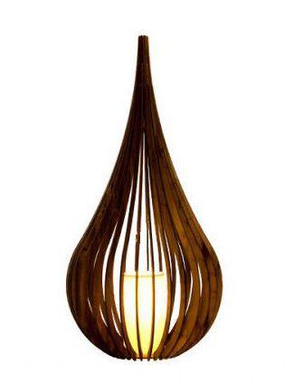 Luminária Abajur Capadócia 55cm em Madeira Imbuia