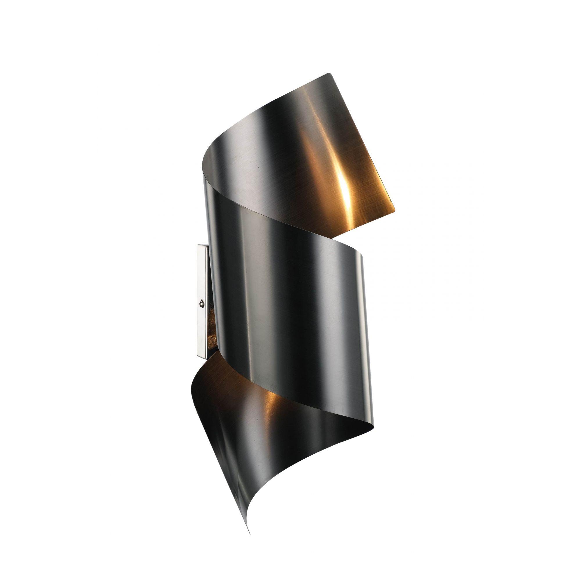 2dc108e56 Arandela Parede Obra de Arte STEEL em Aço Preto Fosco 15cm x 45cm + ...