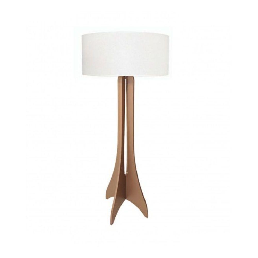Luminária de Chão Abajur Coluna Clean 158cm Madeira Cappuccino
