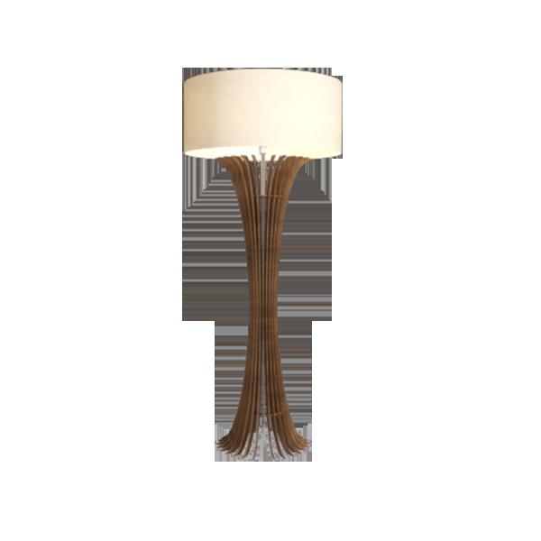 Luminária de Chão Coluna em Madeira 160cm x 70cm  - Accord 363