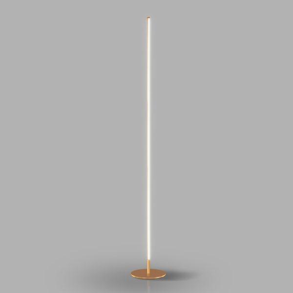 Luminária de Chão Led 15w 2700k Tenues Dourado Fosco Mais Luz
