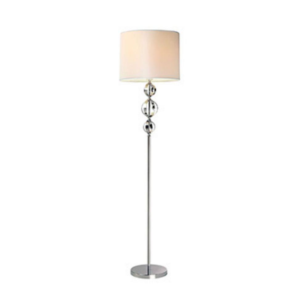 Luminária De Chão Veneto Cúpula Redonda Cor Branca 44 cm BL
