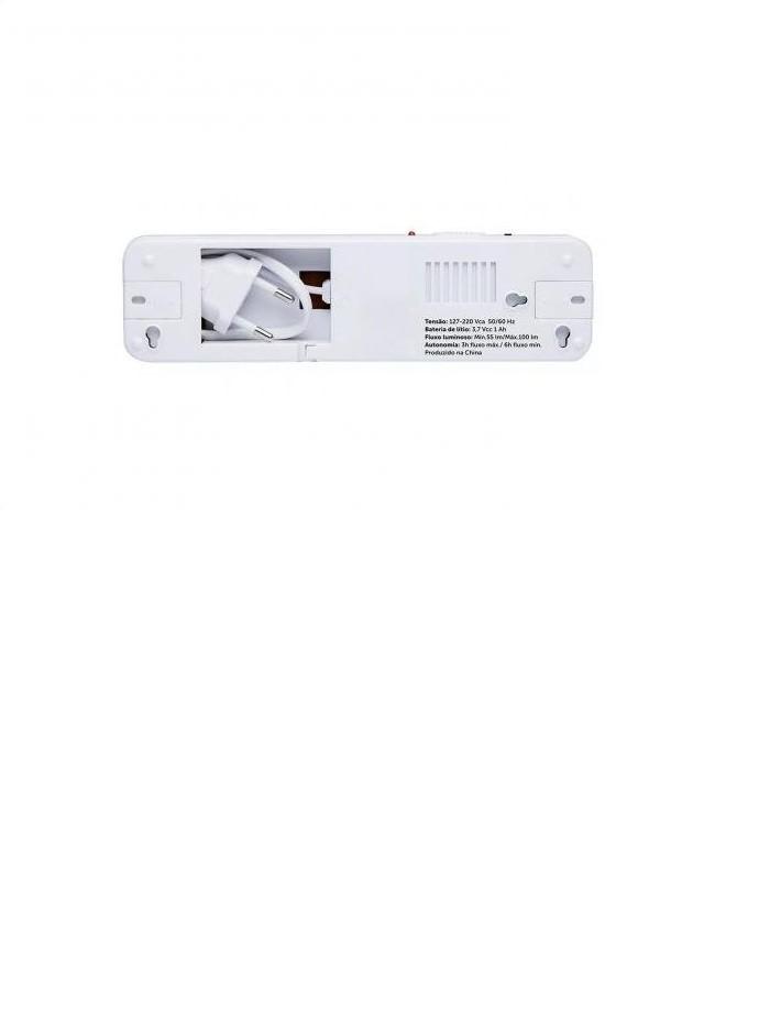 Luminária De Emergência Led Pratic Tle 06 Bivolt Taschibra