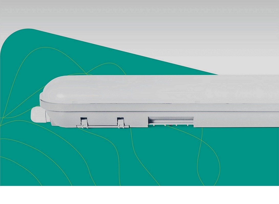 Luminária Hermética Slim Led 40w 6500k 120cm Ip65 Ozli