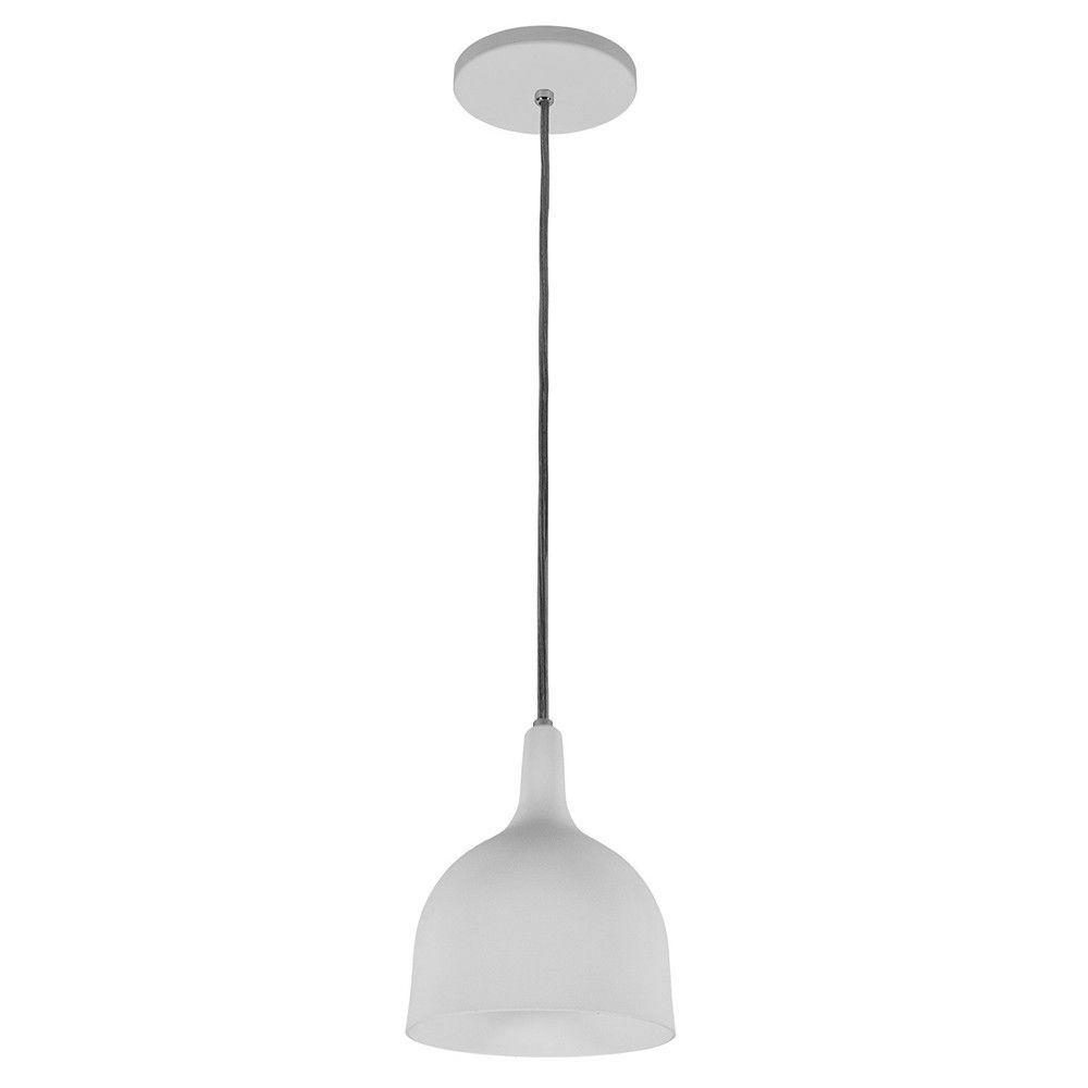 Luminária Pendente 20x14.5cm Aluminium Branco Texturizada - TKS