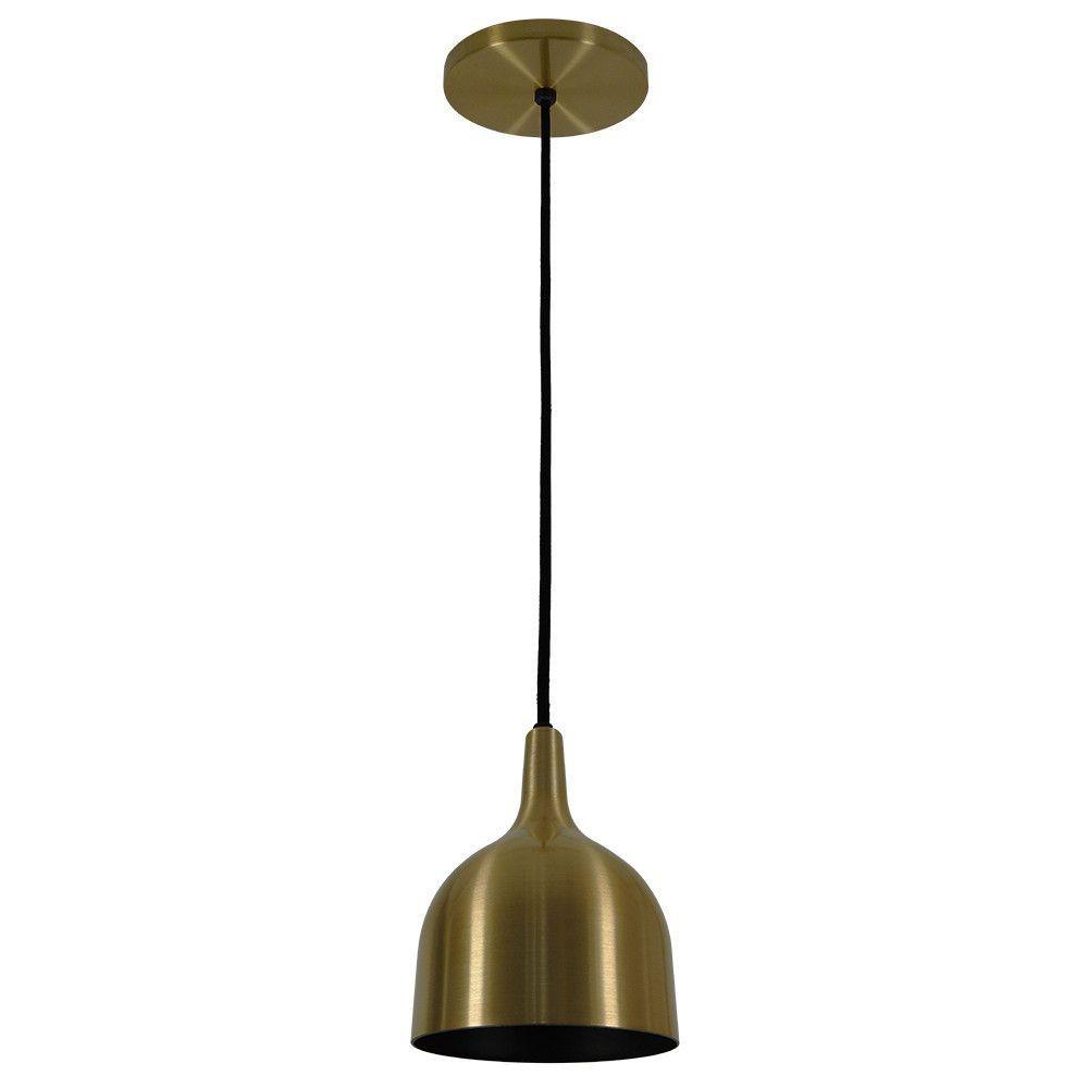 Luminária Pendente 20x14.5cm Aluminium Bronze