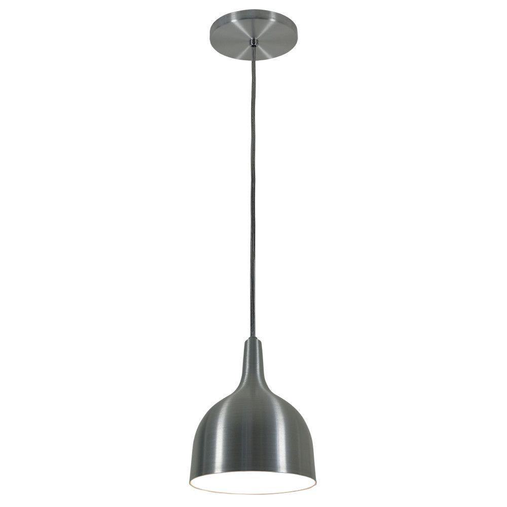 Luminária Pendente 20x14.5cm Aluminium Escovado