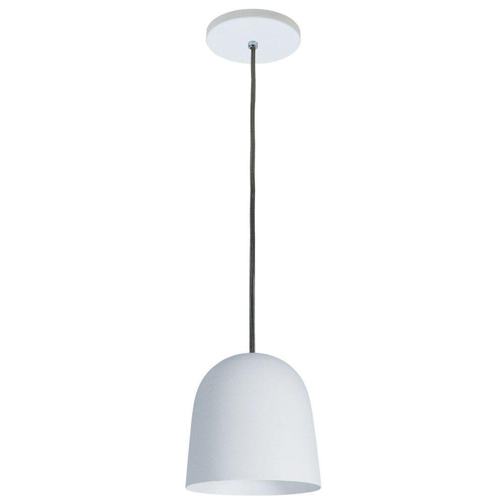 Luminária Pendente 16x14cm 1 Lâmpada Aluminium Branco - TKS