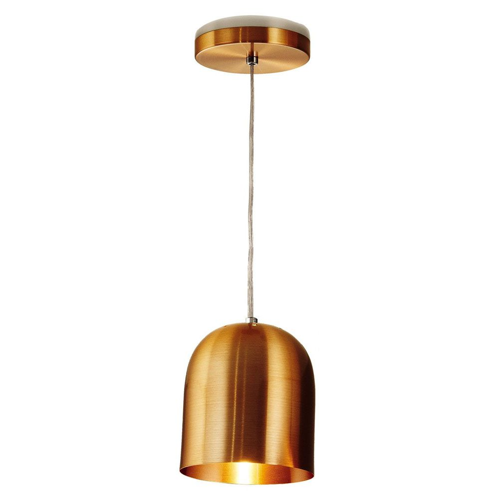 Luminária Pendente 16x14cm 1 Lâmpada Aluminium Cobre