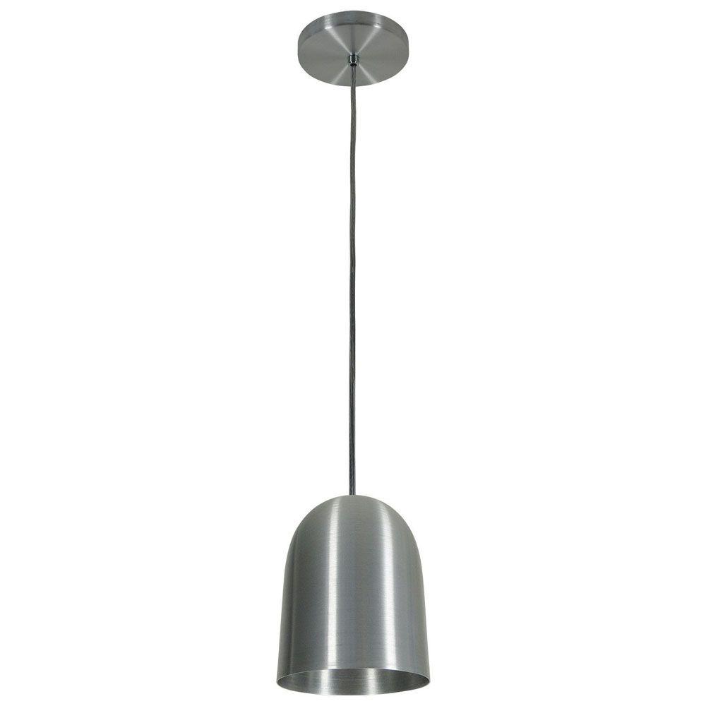 Luminária Pendente 16x14cm 1 Lâmpada Aluminium Escovado