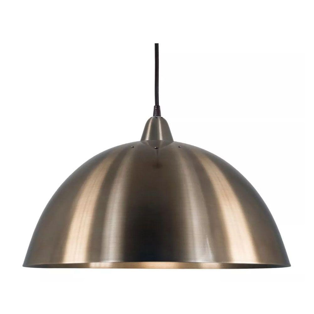 Luminária Pendente Redondo Meia Lua 37cm Aluminium Bronze - TKS