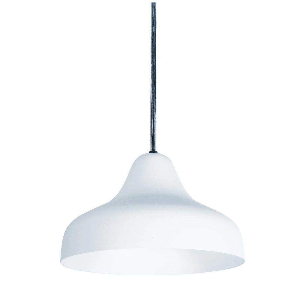 Luminária Pendente Chapéu 23cm Aluminium Branco Texturizado
