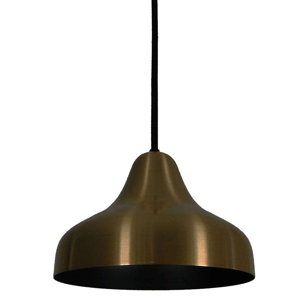 Luminária Pendente Chapéu 23cm Aluminium Bronze - TKS