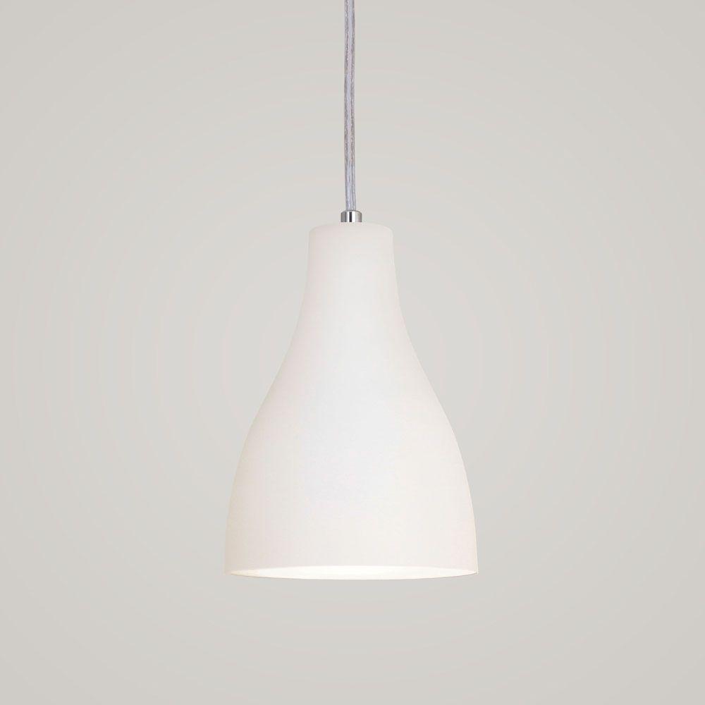 Luminária Pendente Garrafa 20x13.5cm Branco Texturizado