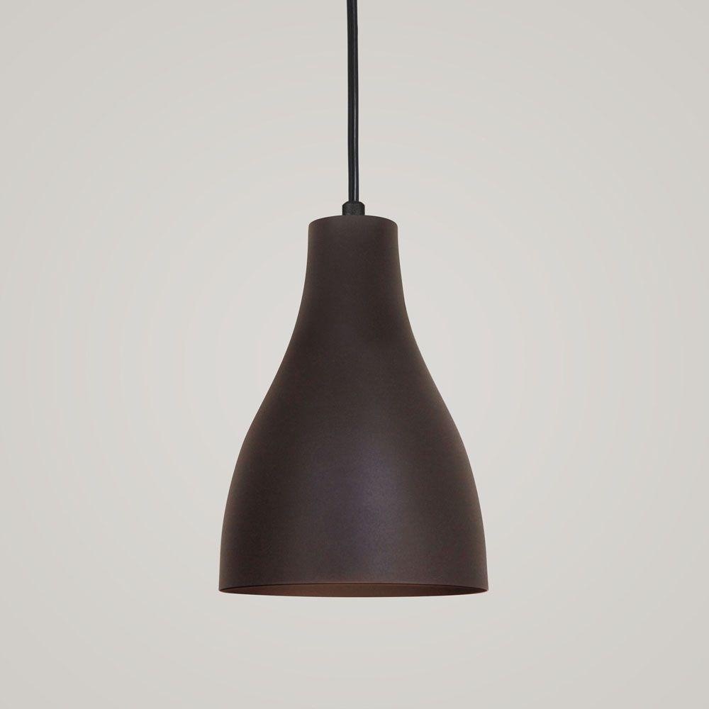 Luminária Pendente Garrafa 20x13.5cm Marrom Corten