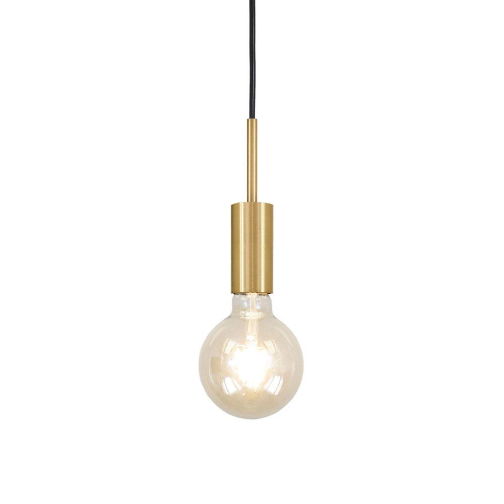 Pendente Infinite 14cm 1 Lâmpada E27 Acabamento Dourado