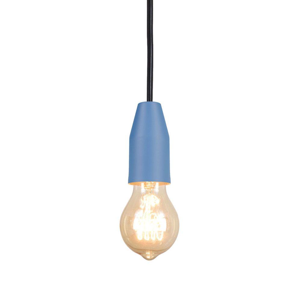 Pendente Loose 8cm 1 Lâmpada E27 Azul Mate