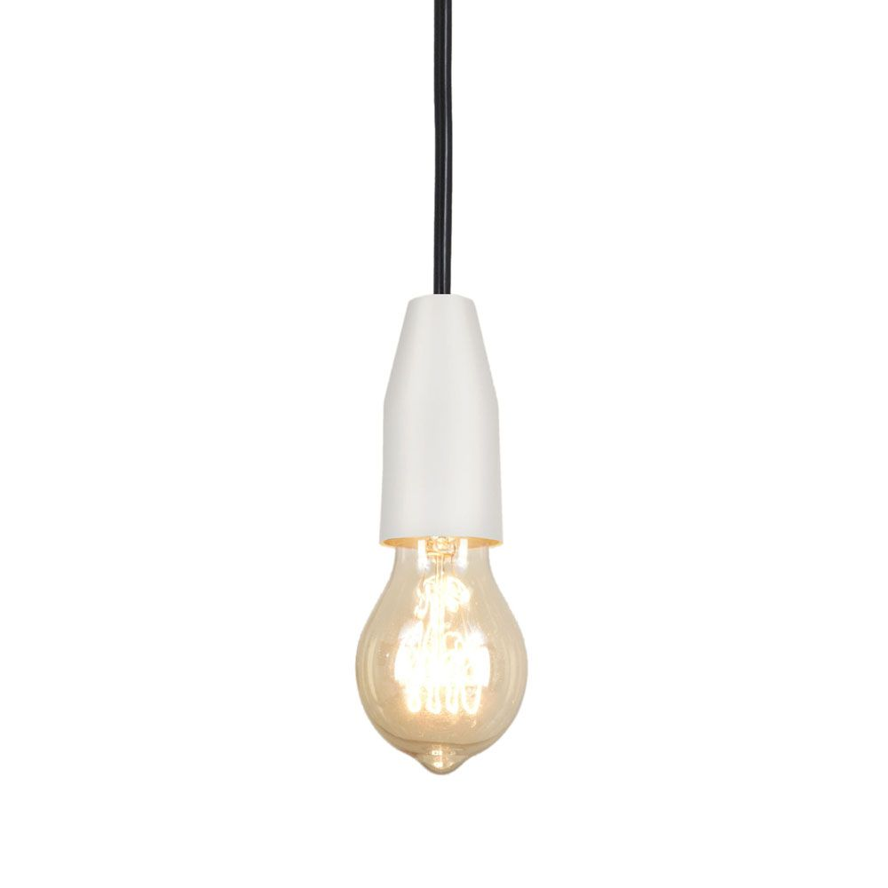 Pendente Loose 8cm 1 Lâmpada E27 Branco Texturizado