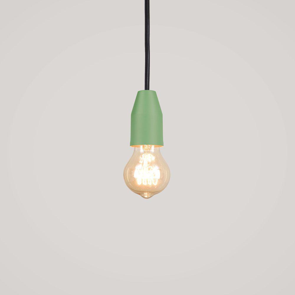 Pendente Loose 8cm 1 Lâmpada E27 Verde Mate