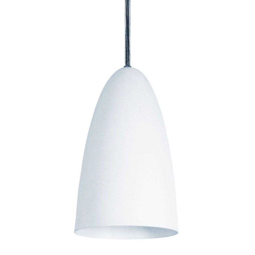 Luminária Pendente Oval 29x13cm 1 Lâmpada Aluminium Branco - TKS