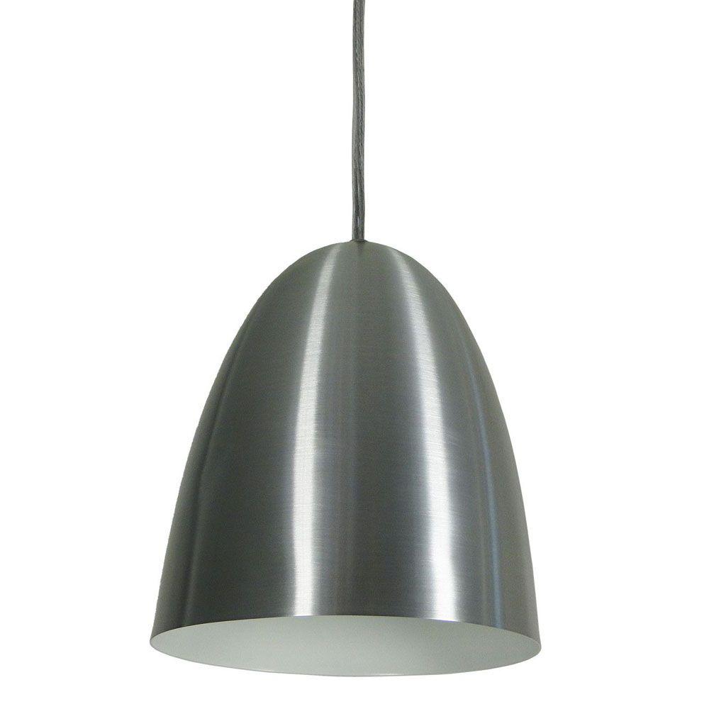 Luminária Pendente Oval 24x18.5cm 1 Lâmp Aluminium Escovado