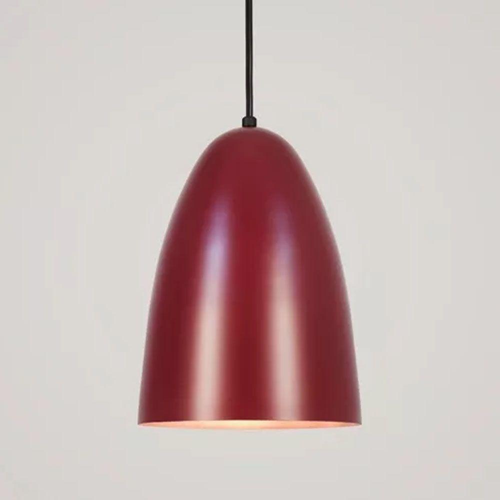 Luminária Pendente Oval 24x18.5cm 1 Lâmp Aluminium Marsala