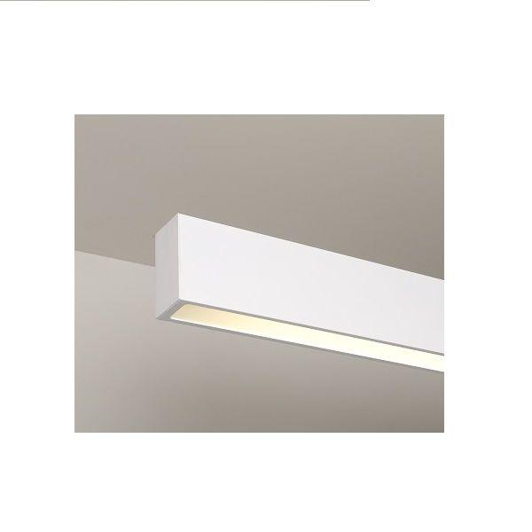Luminária Plafon Retangular 1 Lâmp. 125cm Alumínio Branco Arky