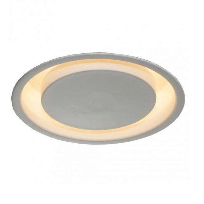 Luminária Plafon Embutir Luz Indireta 53cm Redondo 4xE27 Branco