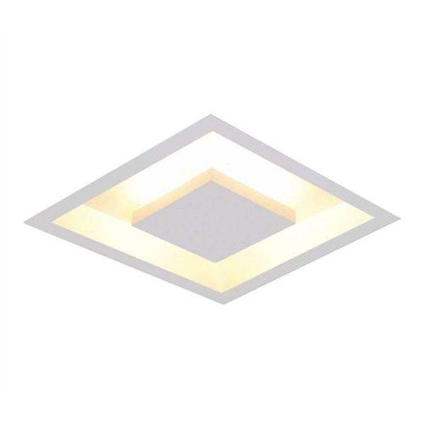 Luminária Plafon Luz Indireta Embutir 30x30cm 4 Lâmpadas Branco