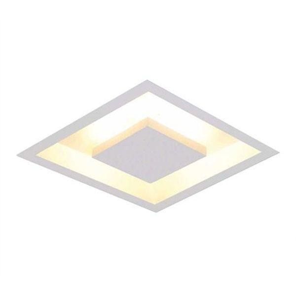 Luminária Plafon Luz Indireta Embutir 40x40cm 4 Lâmpadas Branco RL