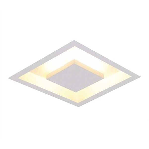 Luminária Plafon Luz Indireta Embutir 50x50cm 4 Lâmpadas Branco RL