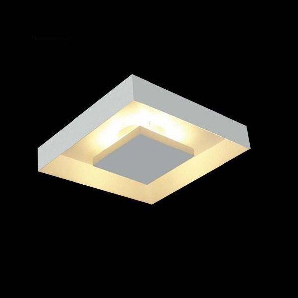 Luminária Plafon Luz Indireta Sobrepor 30x30cm 4 Lâmpadas Branco RL