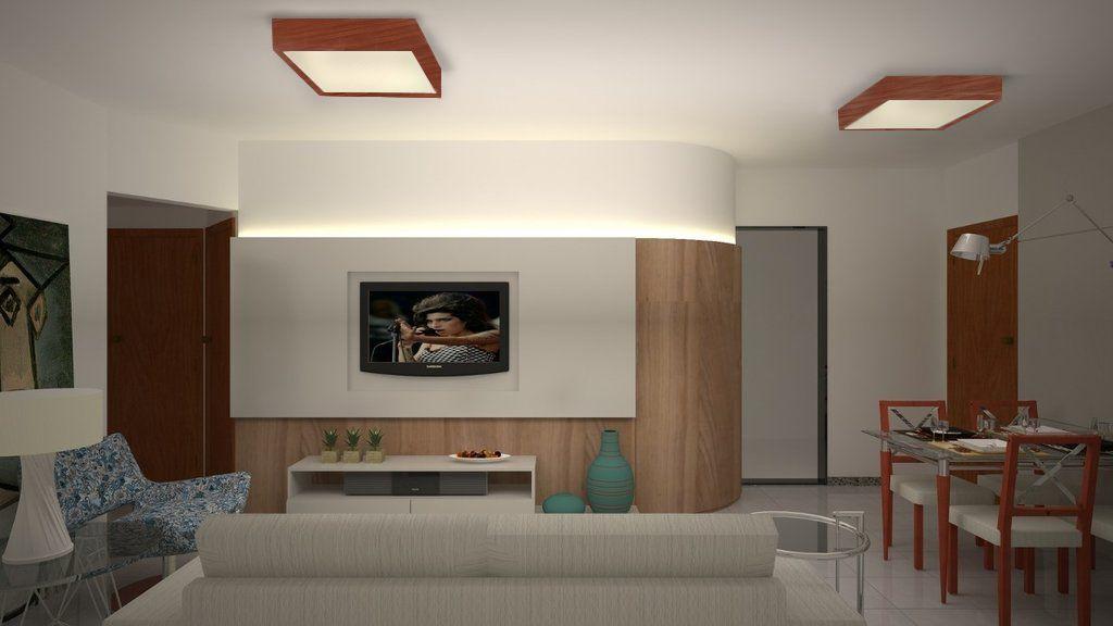 Luminária Plafon Quadrado 30x30cm em Madeira Imbuia