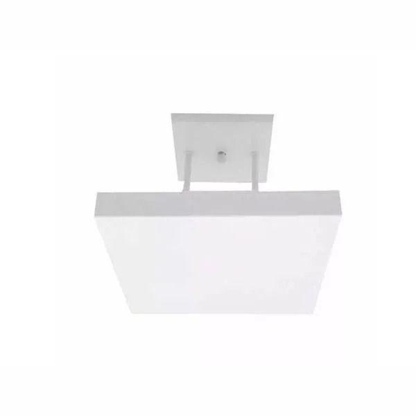 Luminária Plafon Rebatedor Luz Indireta 30cm 4 Lâmpadas Branco RL