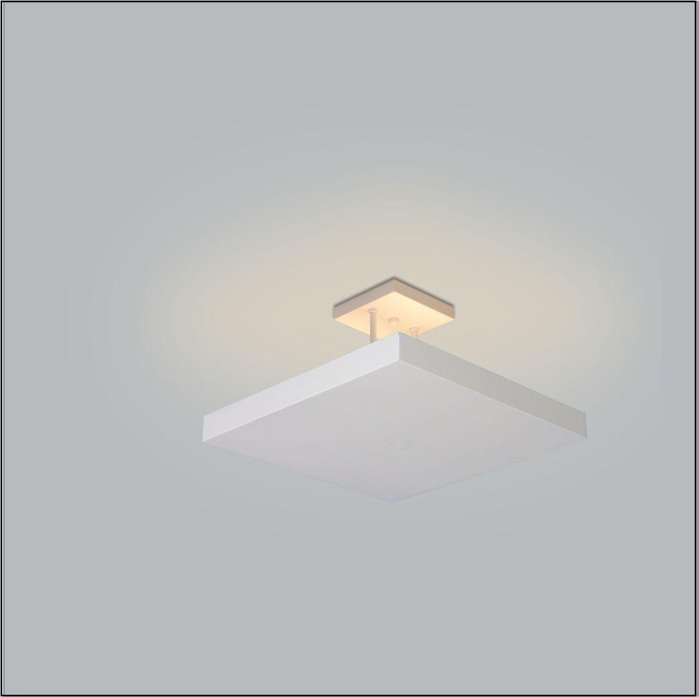 Luminária Plafon Rebatedor Luz Indireta 40cm 4 Lâmpadas Branco RL
