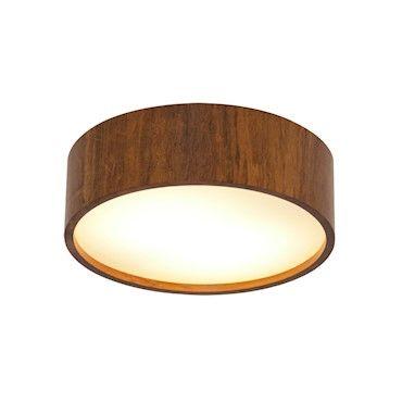 Luminária Plafon Cilindrico Redondo em Madeira 10cm x 50cm - Accord 528