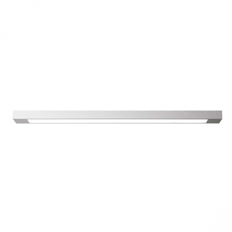 Luminária Plafon Retangular 2 Lâmp. 125cm Alumínio Branco Arky