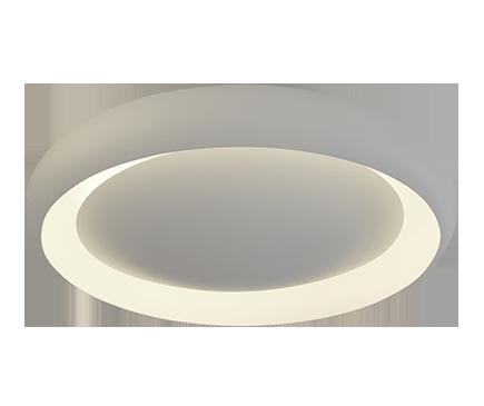 Luminária Plafon Sobrepor Luz Indireta Eclipse 40cm Branco