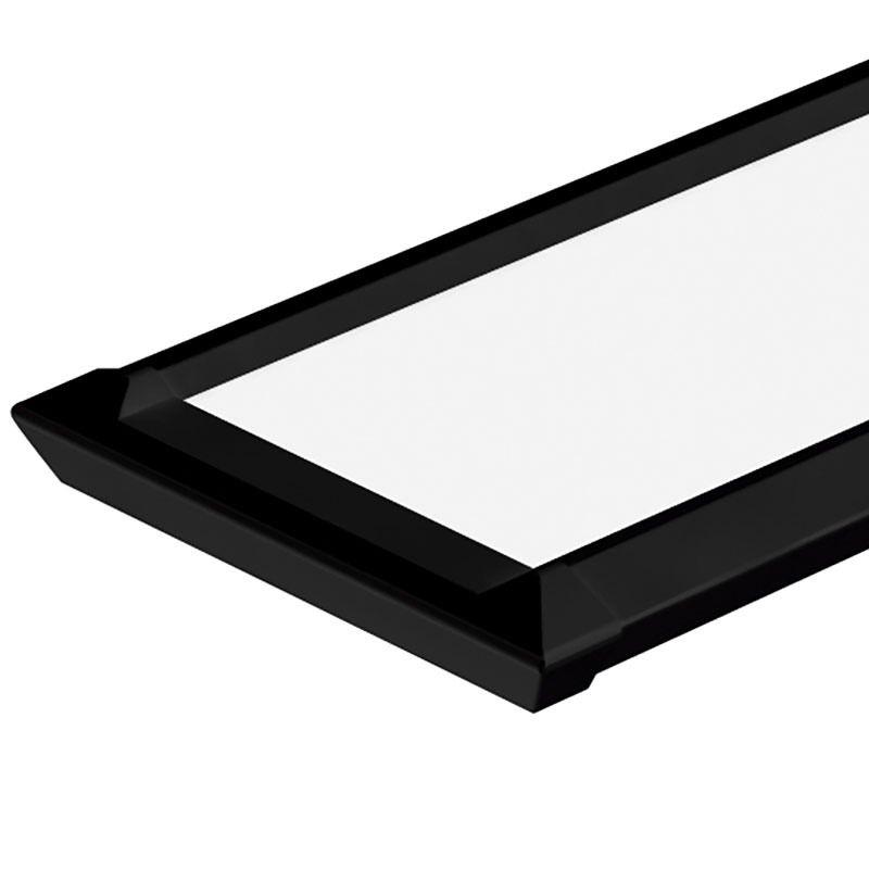 Luminária Retangular Slim Led 35w 6500k Bivolt Preta Taschibra