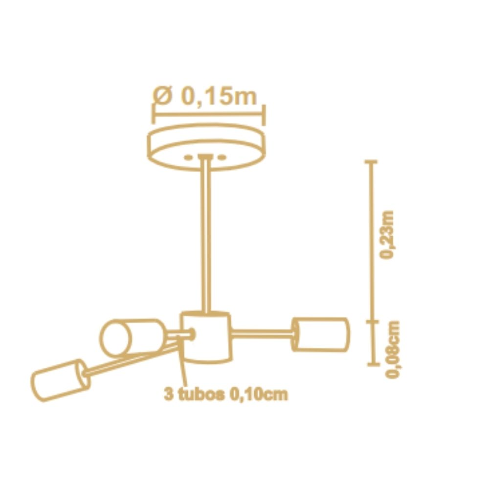 Lustre Pendente Ana 3 Lamp Madeira Castanho Madelustre