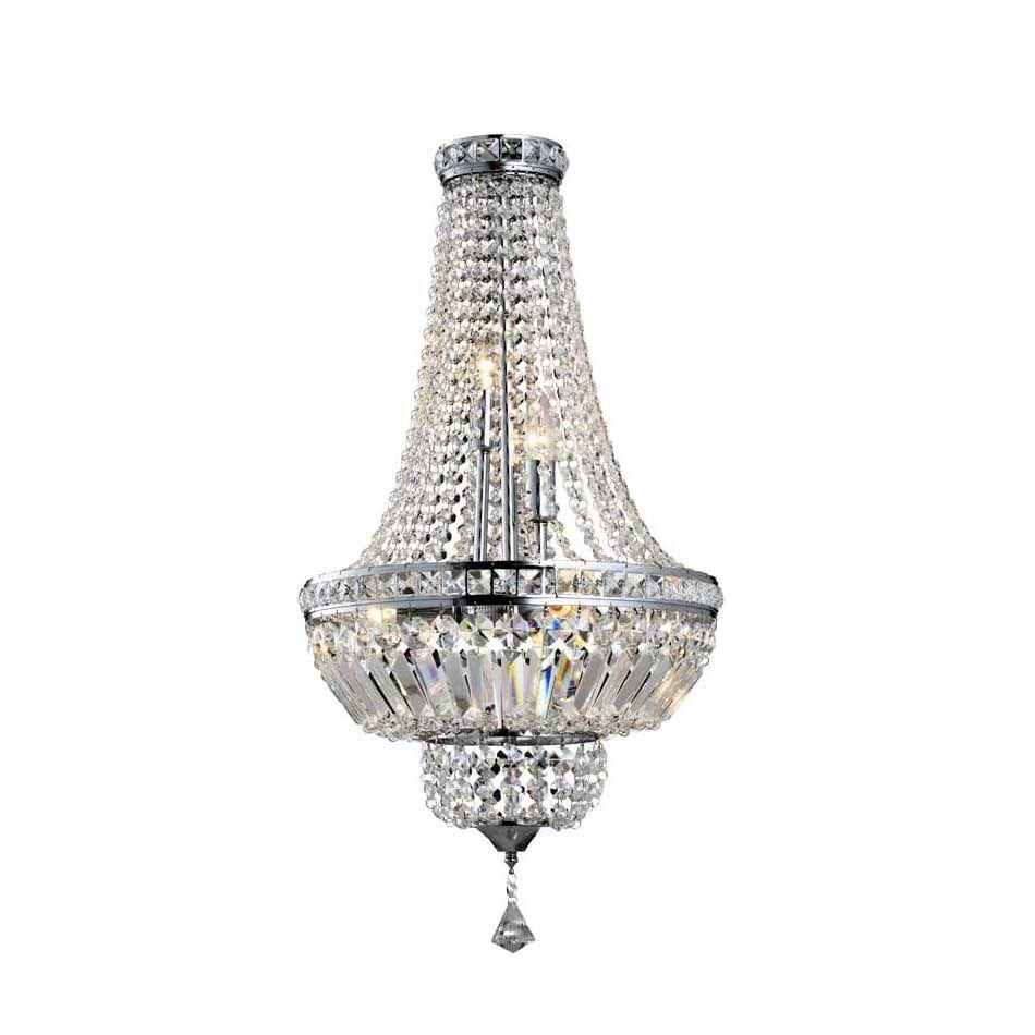 Lustre de Cristal Fontana Tritone 5 Lâmpadas Transparente BL