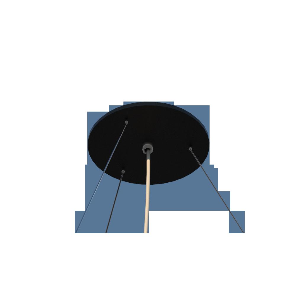 Lustre Pendente cilíndrico 50x22cm em Madeira Preto ou Branco